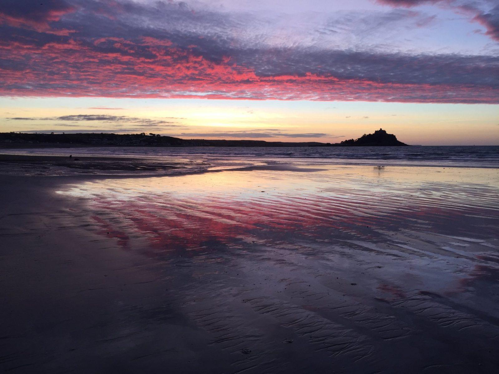 St Michaels Mount sun rise